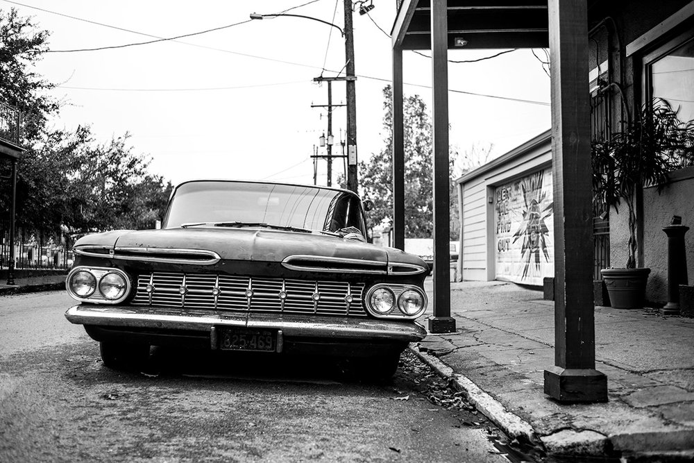 1959 Chevrolet Biscayne 4 Door Sedan, New Orleans, LA, Louisiana, United States by Leica Photographer Manuel Guerzoni in San Francisco