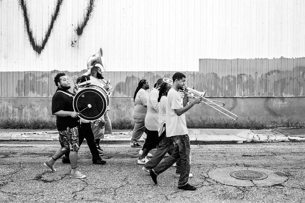 New Orleans Marching Band, New Orleans, Louisiana, LA, United States by Leica Photographer Manuel Guerzoni