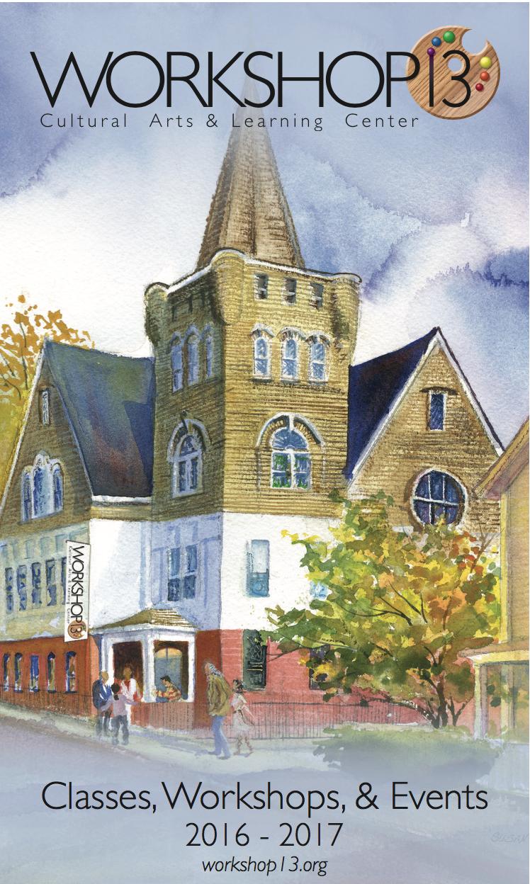 Catalog cover for Workshop13, Community Art Center