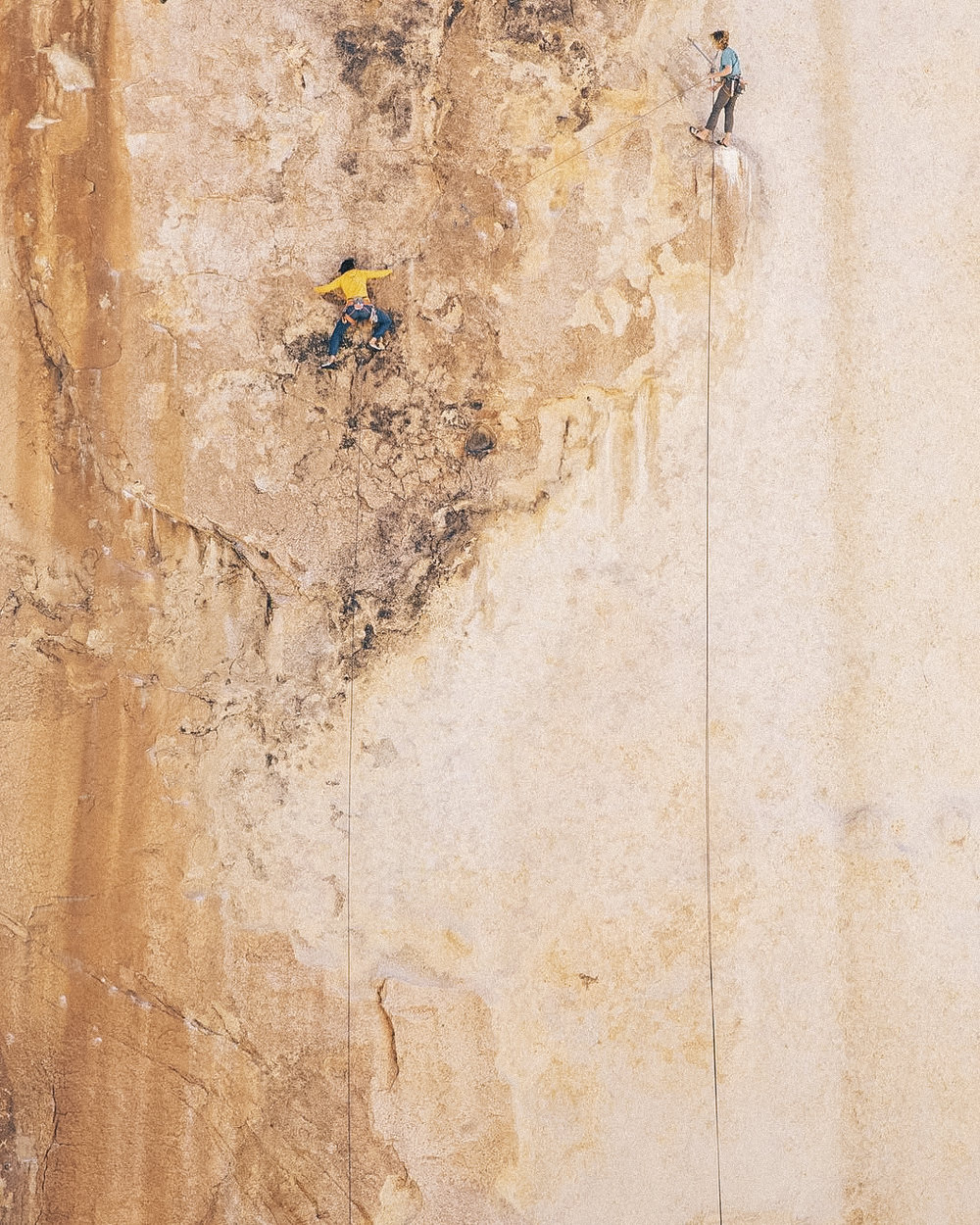 Figures on a Landscape (5.10+) -  Photo by Jonathon Finch, Climbers: Connell Ford & Will Levandowski