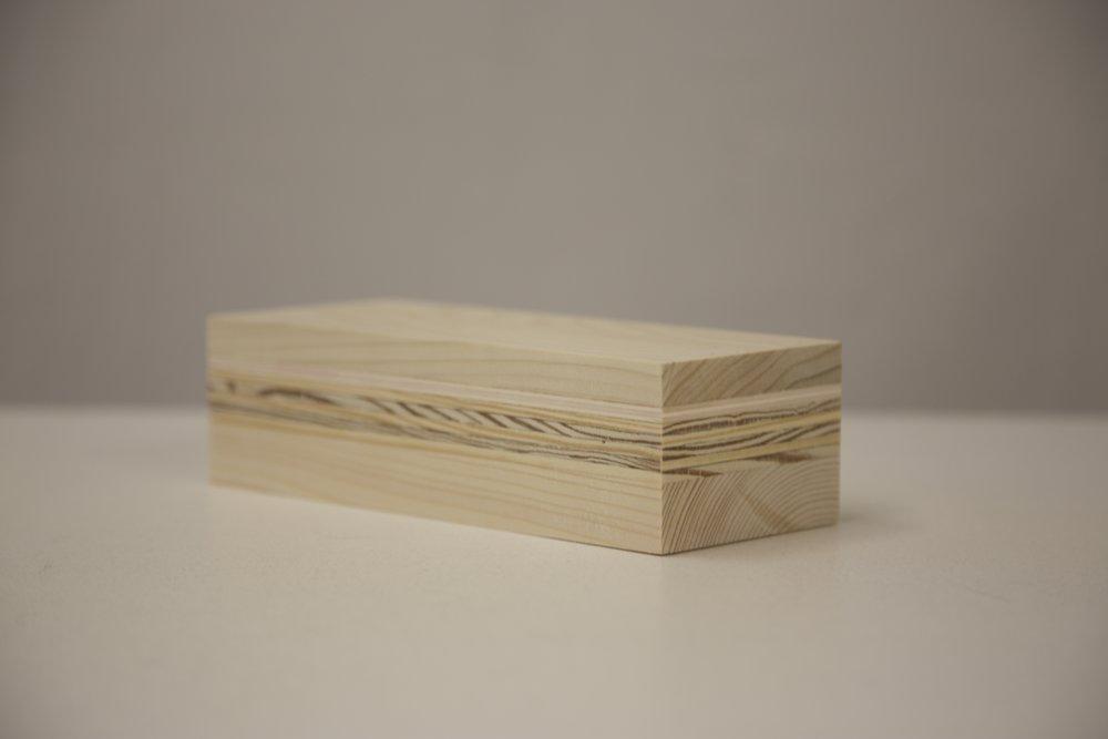 "plywood,3 1/2"" x 2 1/4"" x 8"", 2017"