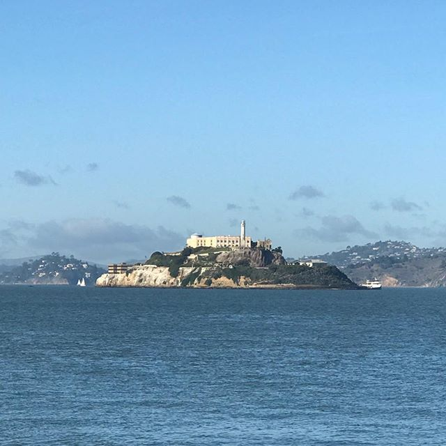 From San Francisco with love and clear view of Alcatraz. #sanfrancisco #sunday