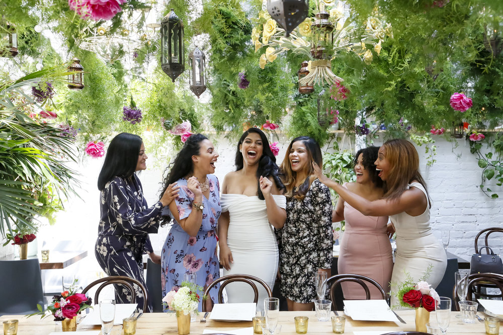 Our Engagement Brunch at Pinto Garden NYC. Photos by Diana Davis Creative. Flowers by Tantawan Bloom