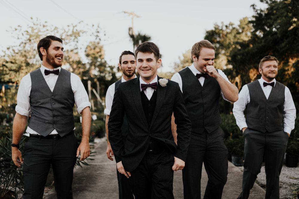 Groomsmen, bridal party photos, whimsical wedding, garden wedding, Rockledge Gardens wedding, wedding photography