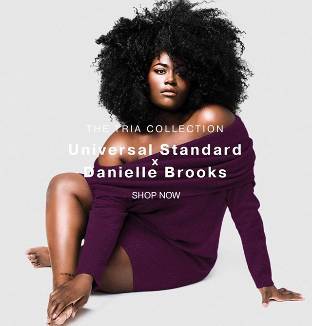 Congratulations to @daniebb3! Today is the day that #DBxUS launches. Check out @universalstandard to peep her designs. Makeup: @makeupbymichael. Hair: @infamousmstish. Photo: @heatherhazzan. #DanielleBrooks #makeupbymichael #UniversalStandard #DanielleBrooksXUniversalStandard #taysteetuesday #taystee #oitnb #voiceofthecurves