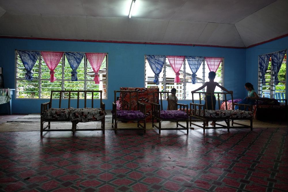 Inside the family home in Vaito'omuli, Palauli - Savai'i.