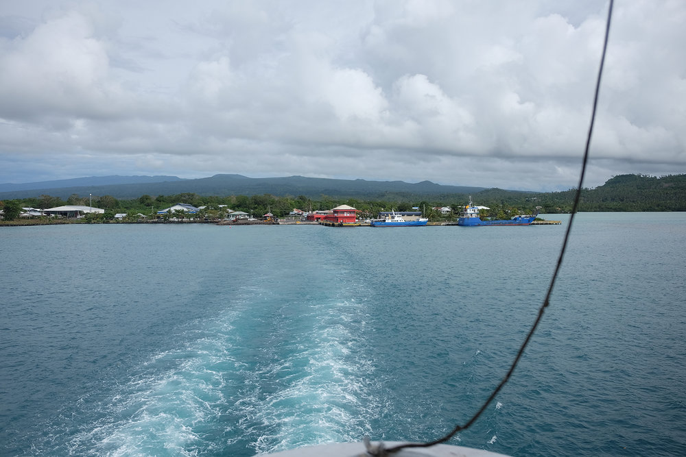 Leaving Savai'i, for Upolu.