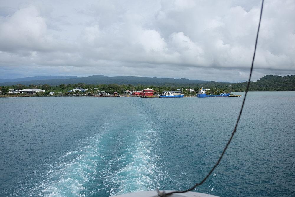Leaving Savai'i, for Upolu.