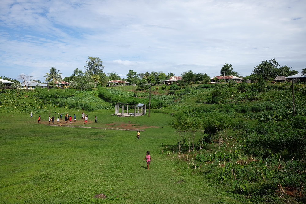 Mauga in Savai'i, where the village encircles a crater & the water for the village is in a well in the middle of the crater.