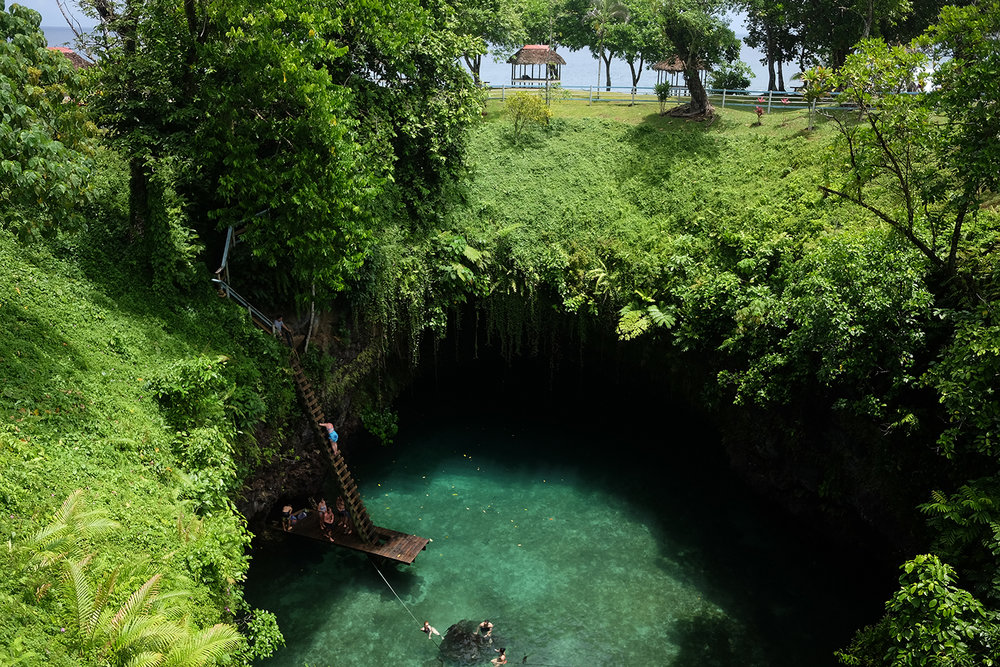 To Sua Ocean trench  in Upolu.