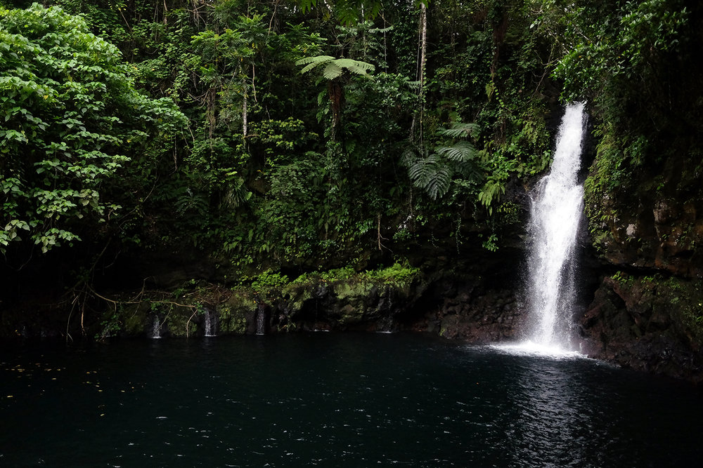 Afu Aau waterfall in Palauli, Savai'i.
