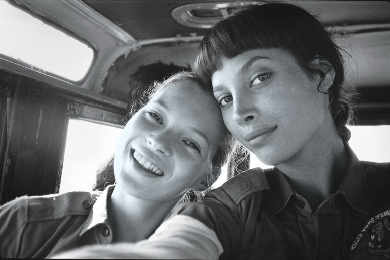 Kate Moss and Christy Turlington.