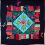 Moon Garden embroidered quilt