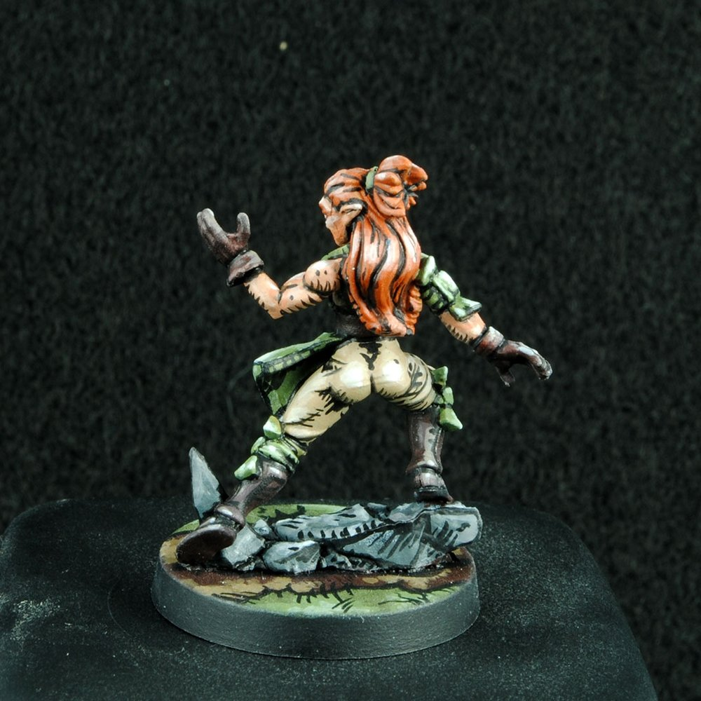 Wild Elf Geomancer - Back