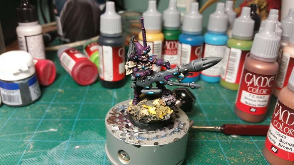 The completed Dark Reaper Exarch at the 2 hour mark.