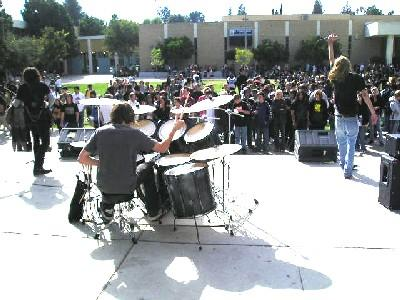 2004: Trevan (Drums) with his first band Dimentis at El Camino H.S.