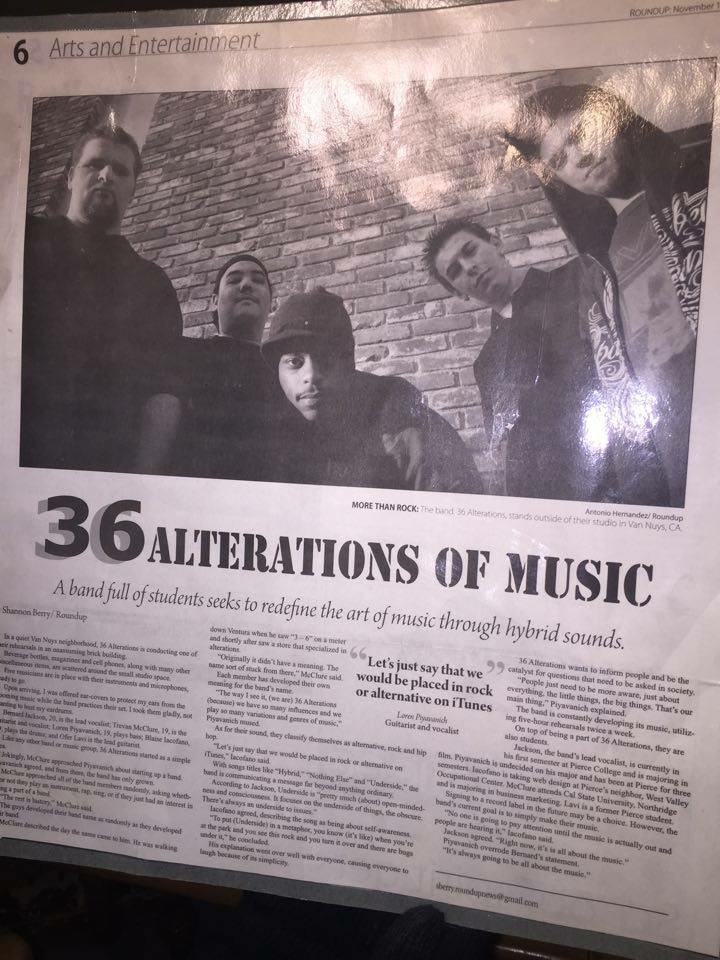 36 Alterations feature in Pierce College Newspaper 2009