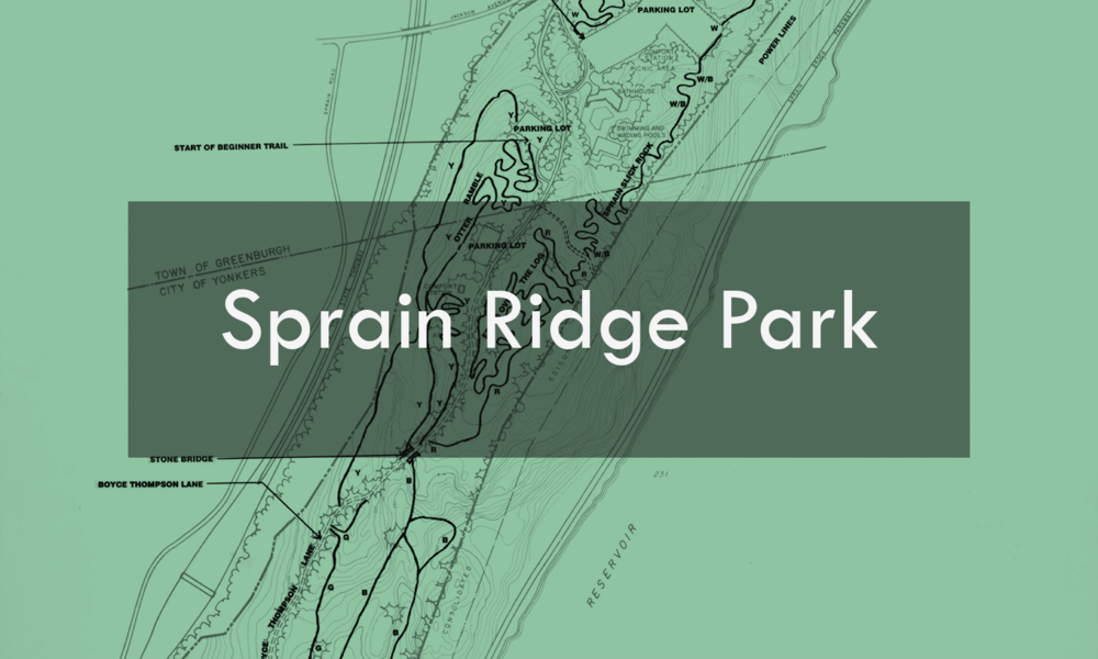 The five miles of mountain bike trails at Sprain Ridge offer challenges to cyclists at every level of ability and are a great complement to the park's other recreational facilities, which include a swimming pool, playground and picnic areas.