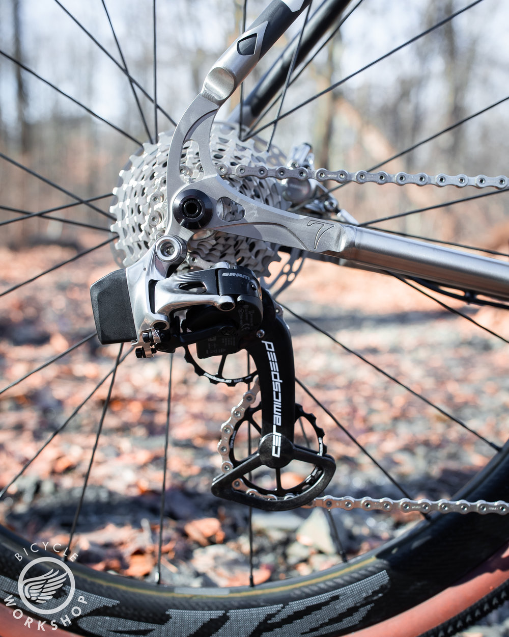 Ceramicspeed pulleys spin quietly and smoothly