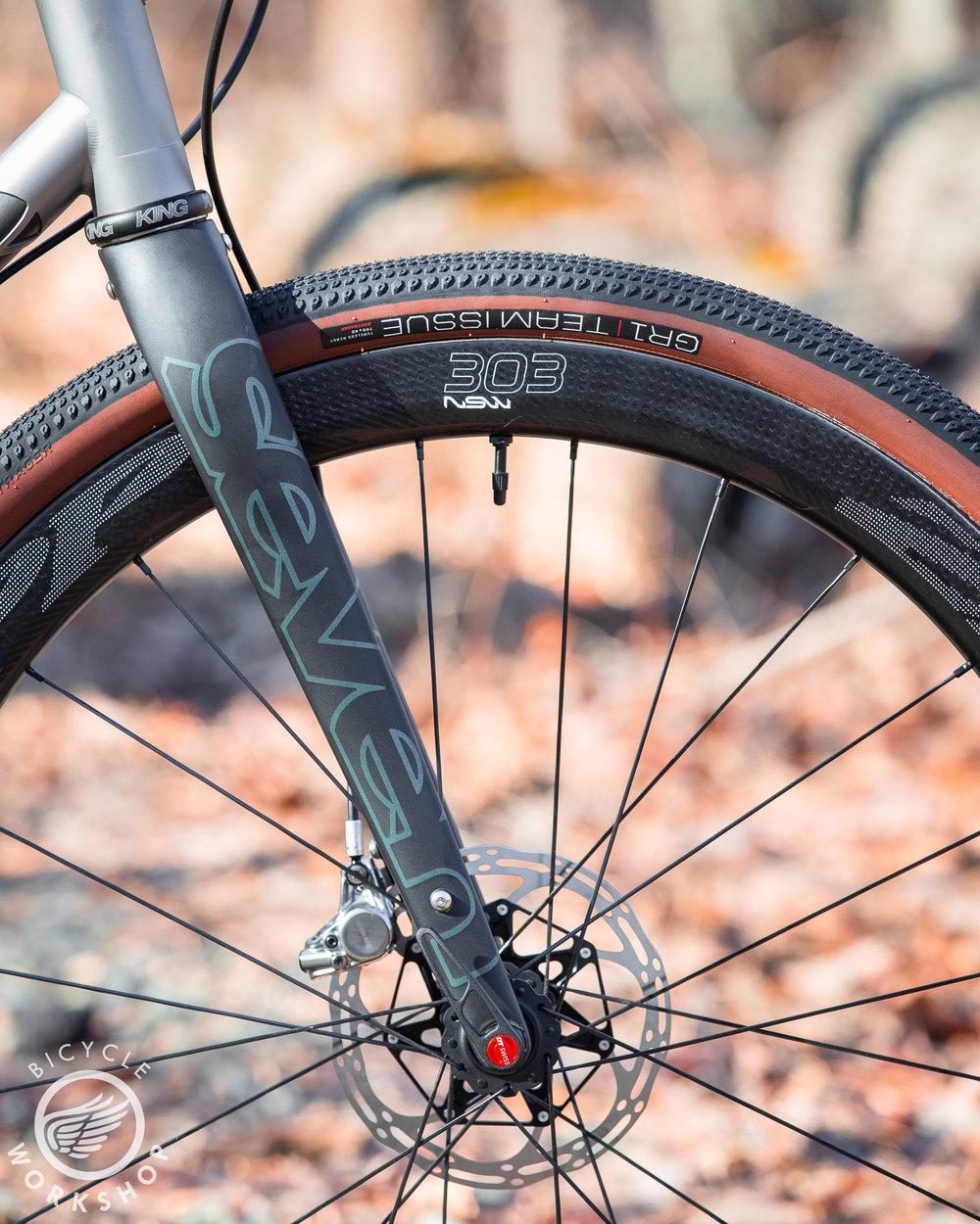 Zipp 303 NSW wheels with Bontrager GR1 tires