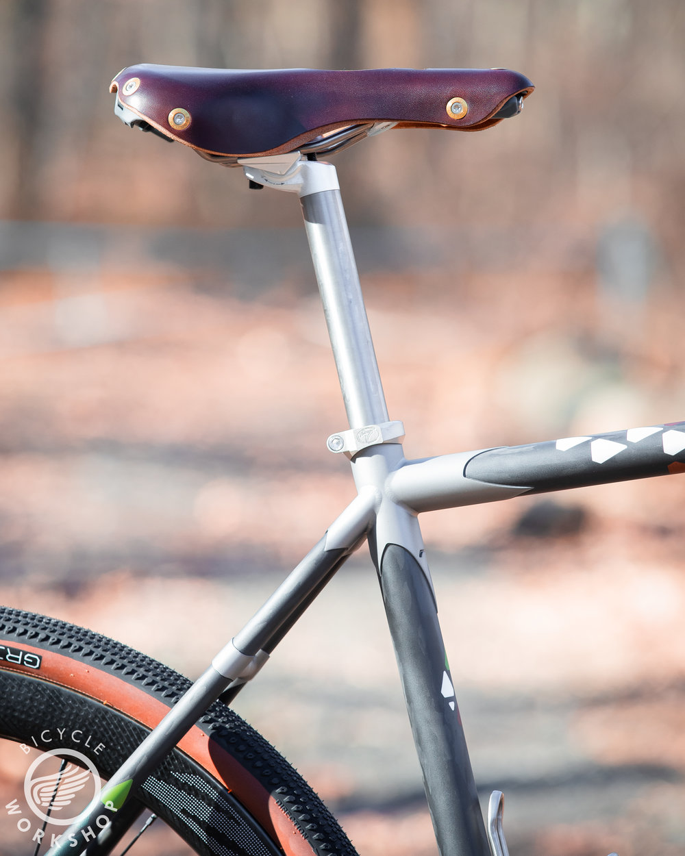 The Berthoud saddle is comfy and elegant