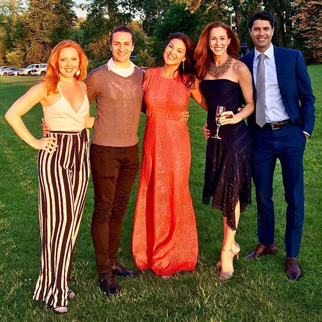 #Repost from @heatherparcells: @thebroadwaydolls mini reunion for @nicolettehart & Dion's nuptials!!! #MiggysHart #goldenhour #nofilter