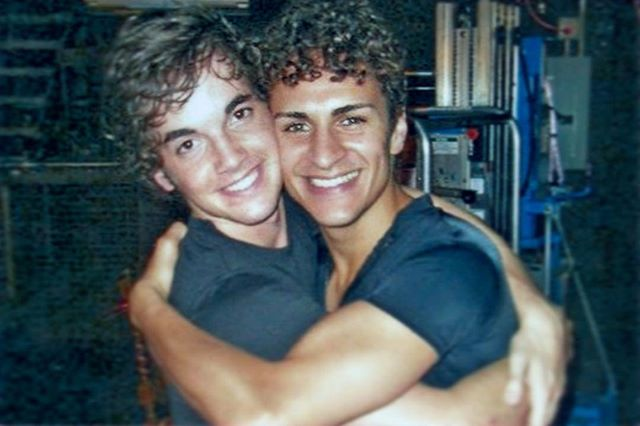 #ThrowbackThursday • Me and @thebrandontimmons backstage at Broadway Theatre Project. A loooooong time ago... But I love you every bit as much now as I did then! And so much more! 💙