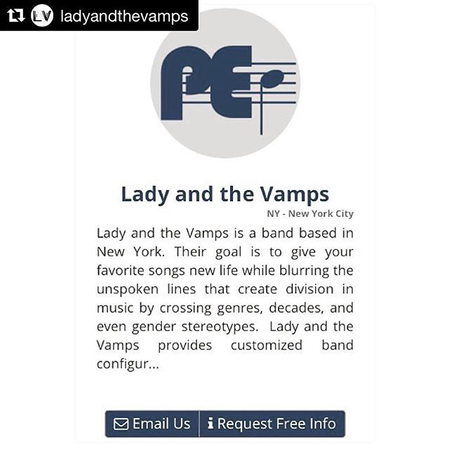 Beyond honored to be a member of the #VampFam! • • • #Repost @ladyandthevamps with @get_repost ・・・ @ladyandthevamps is super excited to partner with @gigroster 🙌🏻 #HouseBand 🎵 #2018 #nowwehere #forward #liveband #livemusic #coverband #eventband #bandforhire #team #vampfam #ladyandthevamps #gig
