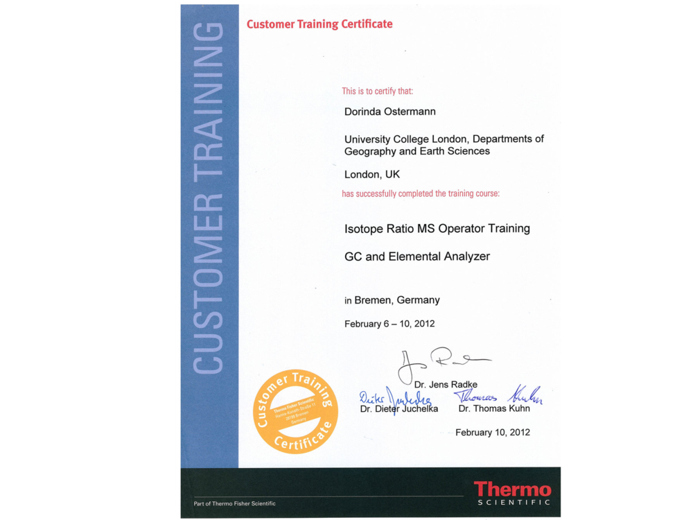 Logistics Certificates Nuanced Logistics