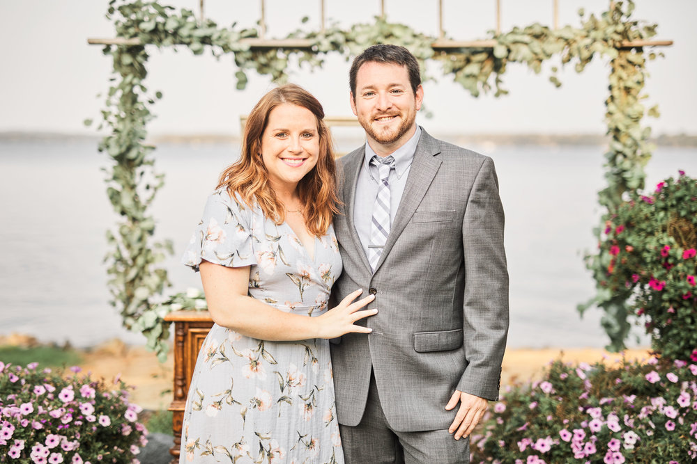 Looking fancy at Kyle's sister's wedding in September