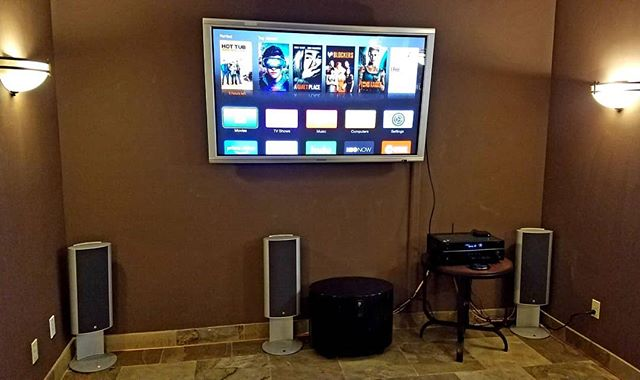 This customer had their home theater equipment put away in storage for a while and we helped them bring it all back to life. We can work with what you already have instead of pressuring you to buy all new products. Contact us today to see what we can do for you! #hometheater #surroundsound #savings #harmony #yamaha #appletv #movietime #familynight #techjunkiesaz