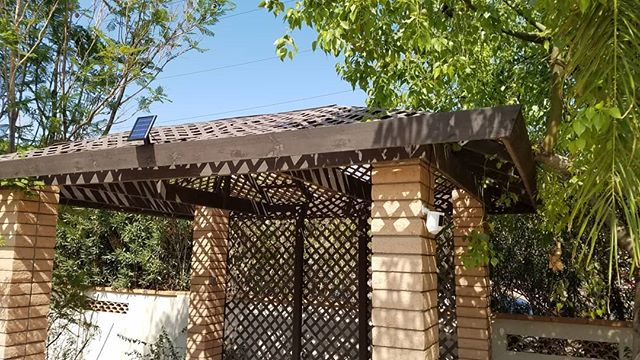 Add a solar panel to your battery powered outdoor cameras like we did for this customer and never worry about removing the batteries to charge them again. #smarthome #ring #securitycamera #solarpower #technology #techjunkiesaz