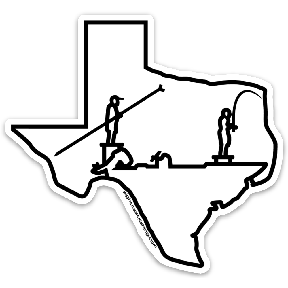Sight Cast Texas poling skiff fishing stickers and Decals. Texas fly fishing stickers. Fishing Stickers for the boat. Texas fishing stickers.