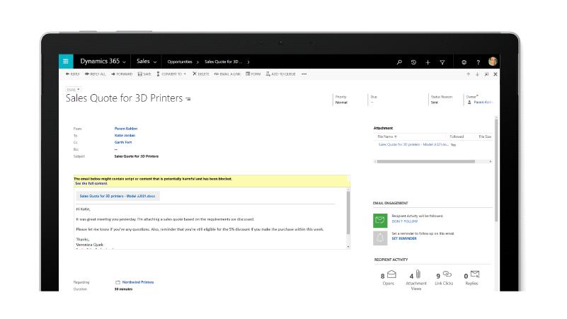 Microsoft Dynamics 365 CRM Personal Engagement