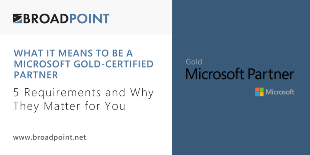 What It Means To Be A Microsoft Gold Certified Partner