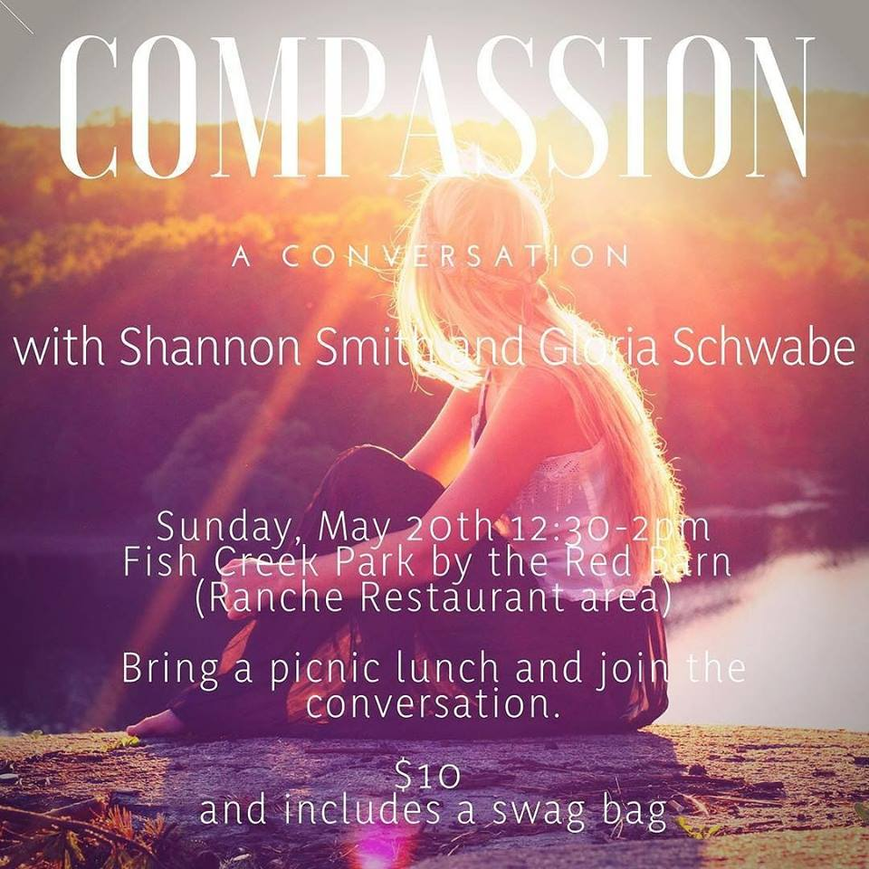 To Join Gloria Schwabe and Shannon Smith for this talk and picnic please buy your ticket at  https://www.schedulicity.com/scheduling/GSCTD4/workshops