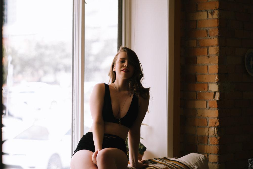 Sexy Window Boudoir Calgary
