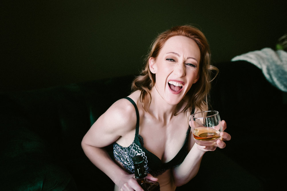 Calgary Boudoir Photographer Laughter Shannon Smith