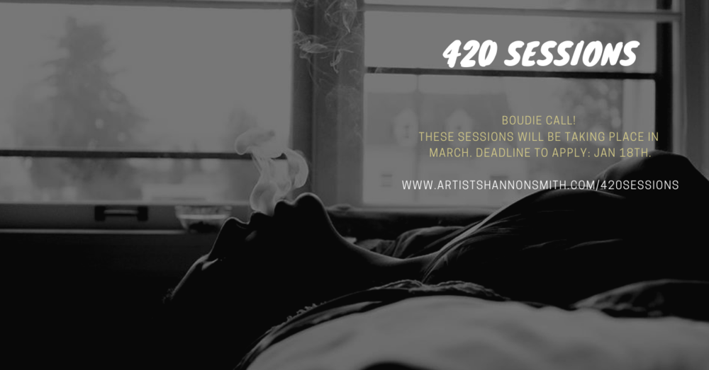 420 Sessions, Boudoir Session, Calgary Photographer, Body Positive, Artist Shannon Smith, Boudie Call