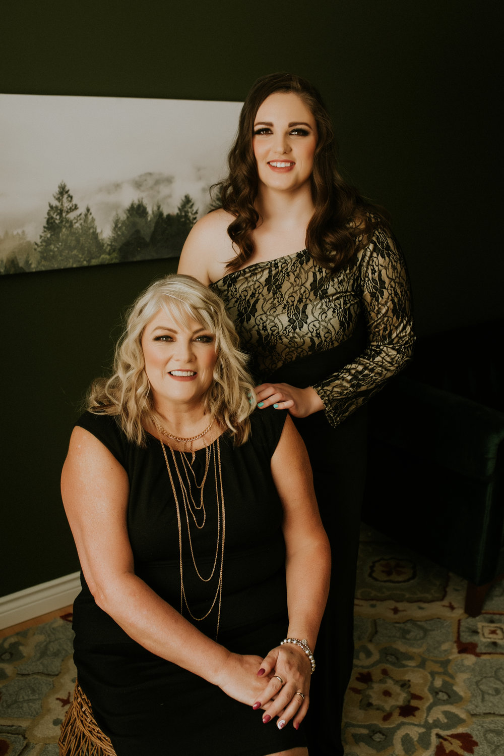 adult mother daughter portraits