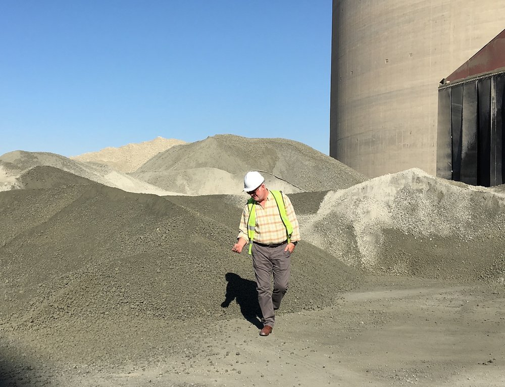 Clinker Pile in Dubai Cement Plant