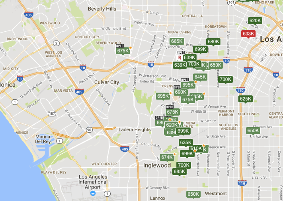 source: redfin.com; available listings between $600k and $700k as of 3/7/2017