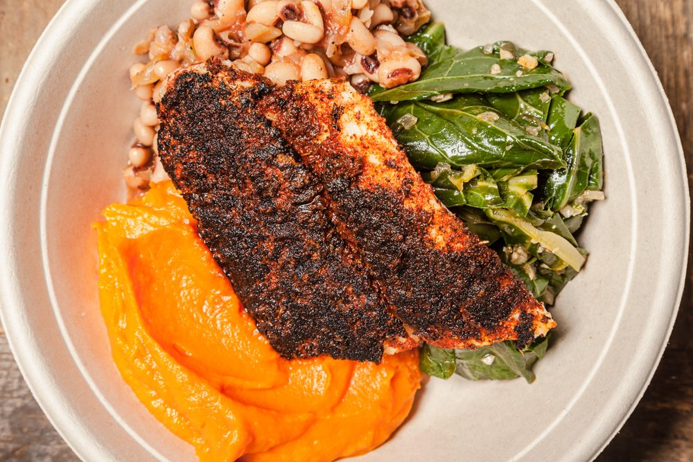 Cajun Blackened Fish Plate