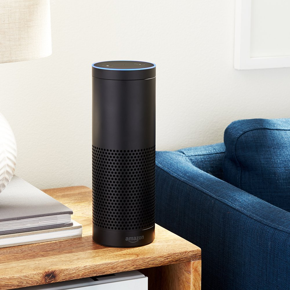The Amazon Echo fits perfectly in any room.
