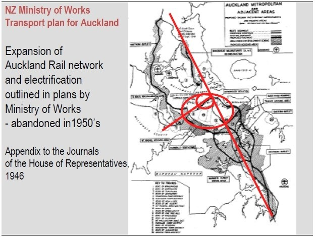 NZ Ministry of Works Transport Plan for Auckland proposal 1946