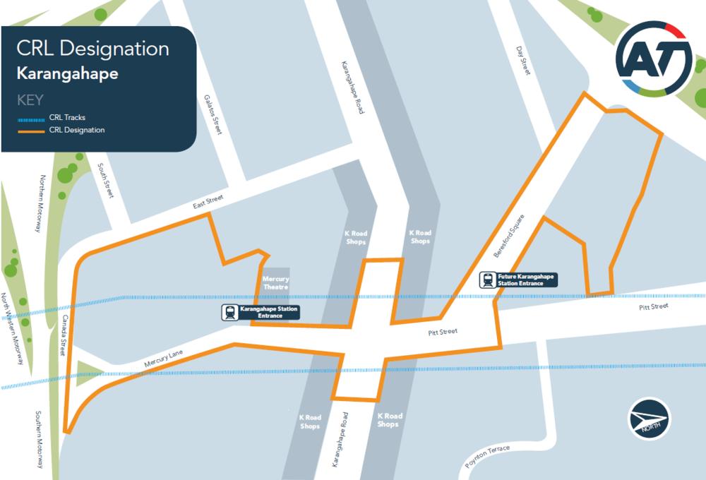 CRL Designation area map - Karangahape