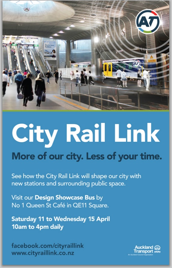 FLYER: Throughout the project, City Rail Link's open days have been popular with the public and those curious about the project