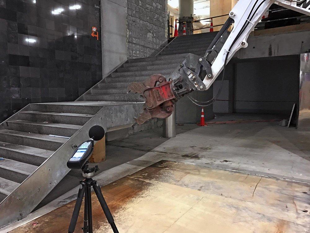 NOISE: Monitoring undertaken during demolition works at Britomart Station