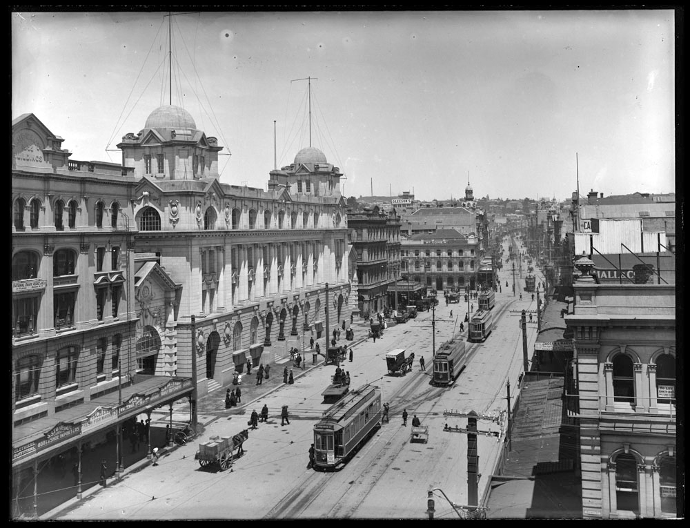 HERITAGE: The CPO building (now the Britomart Transport Centre) was opened in 1912(Photo:Sir George Grey Special Collections, Auckland Libraries, 1-W1533)
