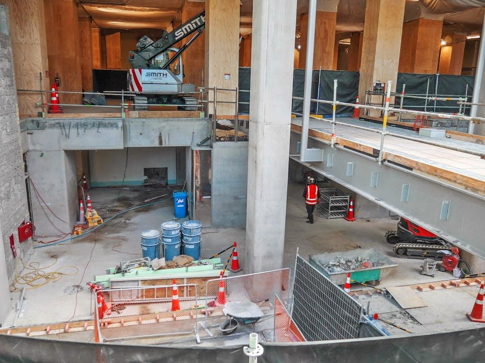 CRL construction work inside the Chief Post Office
